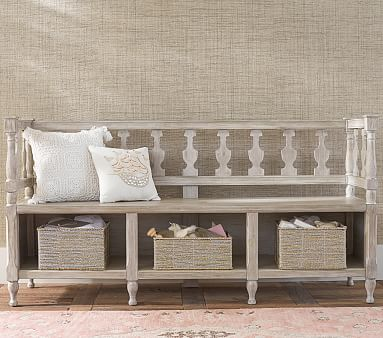 Entryway Storage Bench Pottery Barn Kids