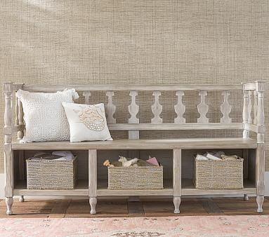 entryway storage bench pottery barn kids. Black Bedroom Furniture Sets. Home Design Ideas