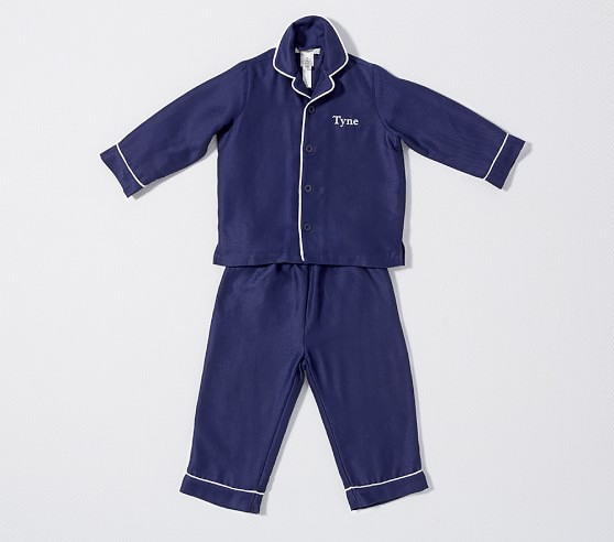 Navy Flannel Pajama | Pottery Barn Kids