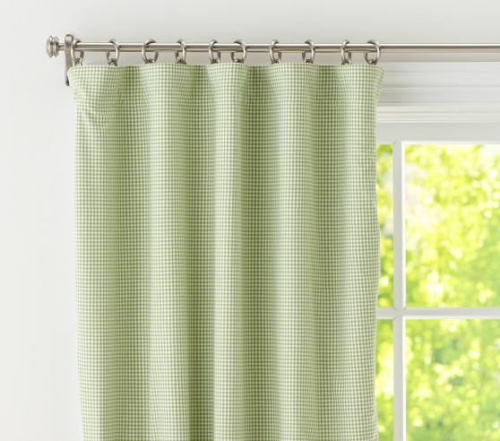 Gingham Blackout Panel Pottery Barn Kids