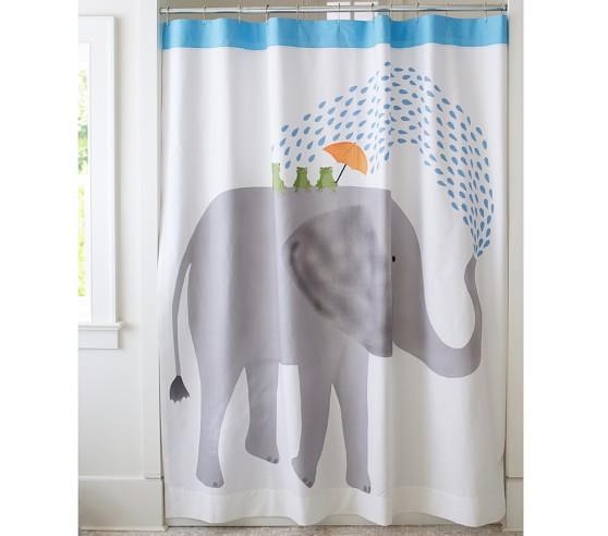 Elephant Shower Curtain   Pottery Barn Kids