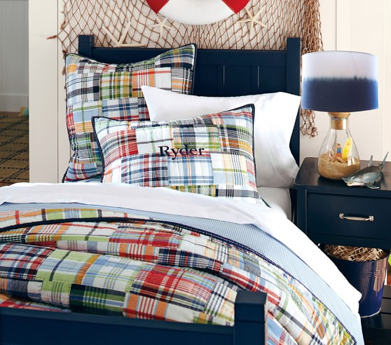 Madras Quilted Bedding Pottery Barn Kids