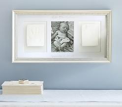 silver leaf triptych frame 69