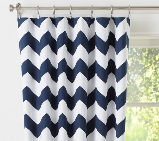 Curtains Ideas chevron curtains blue : Chevron Blackout Panel | Pottery Barn Kids