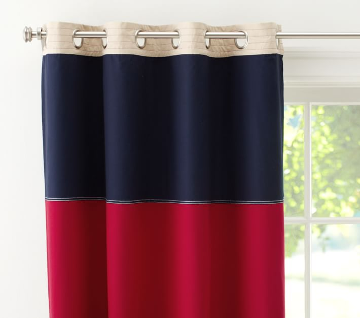 Curtains Ideas blackout panels for curtains : Rugby Blackout Panel | Pottery Barn Kids