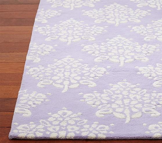 Floral Bouquet Rug 3x5 ft Lavender