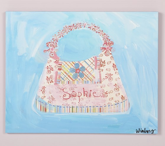 Blue Personalized Purse Art