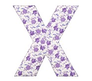 Fabric Letter - X