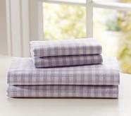 Buffalo Check Flannel Sheet Set, Twin, Lavender
