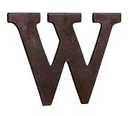 Faux Bronze Letter, W
