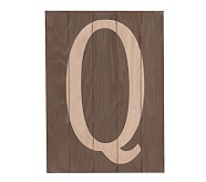 Wood Planked Letter, Q