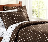 Star Duvet Cover, Twin, Chocolate