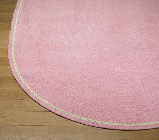 Pink Amy Chenille Braid Rug Swatch