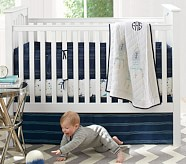 Finn Nursery Quilt Bedding Set: Toddler Quilt, Crib Skirt & Crib Fitted Sheet