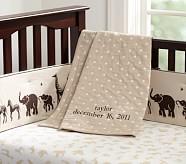 Matelasse Toddler Stroller Blanket, Khaki Dot