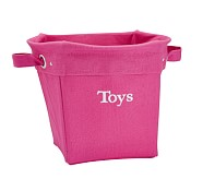 Solid Medium Canvas Storage, Bright Pink