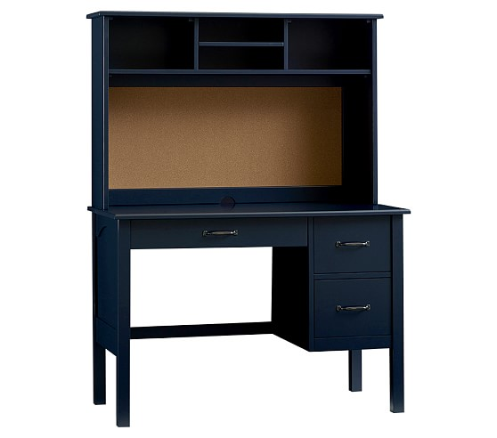 Universal Large Desk Hutch, Navy