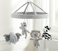 Knit Animal Crib Mobile