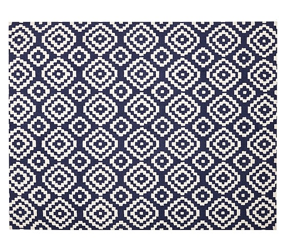 Beckett Rug, 3x5 ft Navy