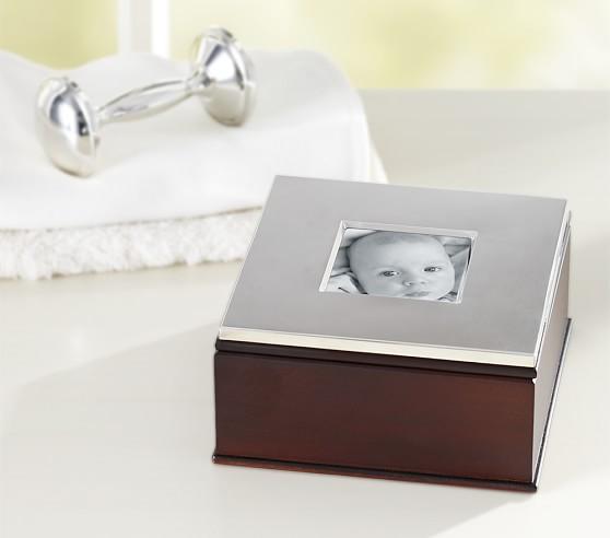 Silver Keepsake Frame Box