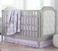 Evelyn Nursery Quilt Bedding Set: Toddler Quilt, Crib Skirt & Crib Fitted Sheet, Lavender