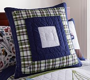 Busy Builder Construction Quilted Euro Sham