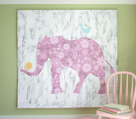 Cecilia Elephant Canvas Art