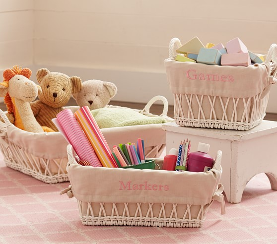 Open Weave Basket, Under bed