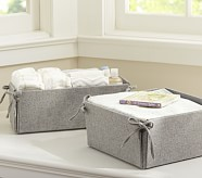 Reversible Tie Side Changing Table Storage, Gray Flannel