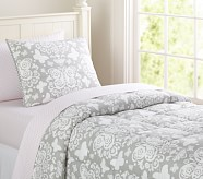 Loft Butterfly Quilt, Gray, Twin
