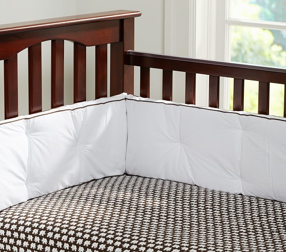 Harper Elephant Crib Fitted Sheet, Brown