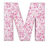 Fabric Letter - M