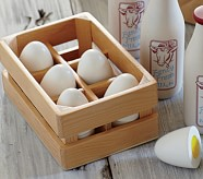 Wooden Egg Set, Set of 6