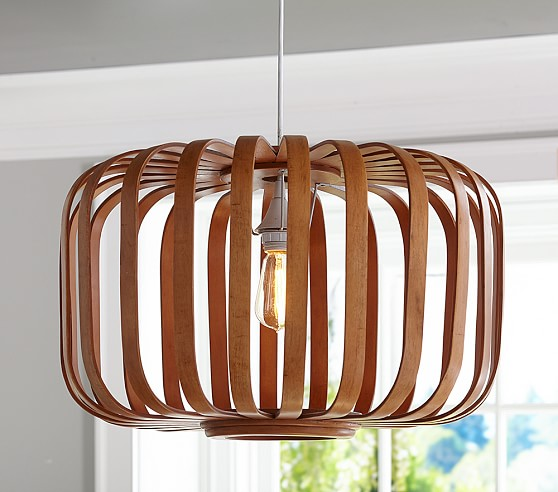 Wooden Cage pendant & cord kit