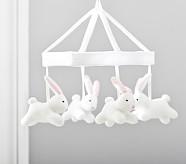 Bunny Knit Crib Mobile