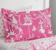 Chinoiserie Standard Sham, Bright Pink