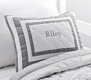 Harper Decorative Sham, Gray