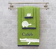 Alligator Wash Cloth, Green