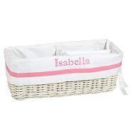 Pink Harper Changing Table Basket Liner