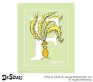 Dr. Seuss™ Alphabet Prints, Letter F, Light Green, Feathers