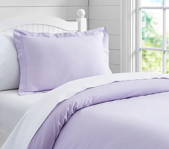 Organic Duvet Cover, Twin, Light Lavender