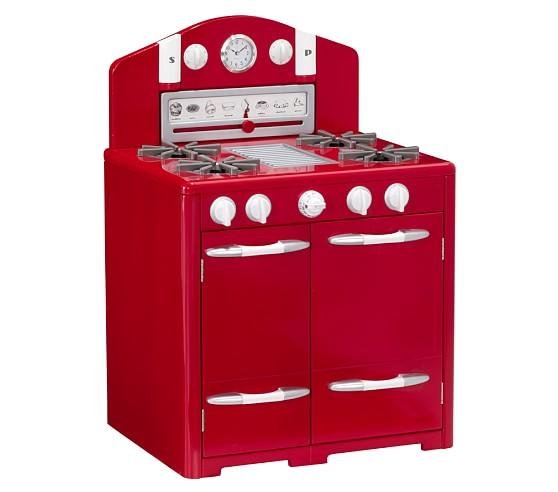 Retro Kitchen Oven, Red