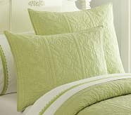 Whitney Standard Quilted Sham, Green