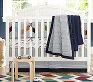 Landon Nursery Quilt Bedding Set: Toddler Quilt, Crib Skirt & Crib Fitted Sheet