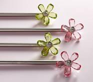 "Crystal Flower Hardware, Small, 28-48"", Green"