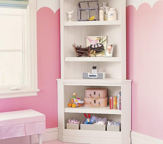 Catalina Corner Bookcase & Hutch