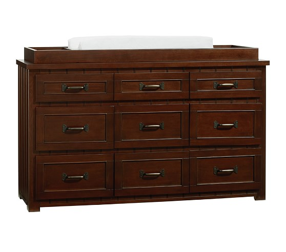Belden Extra-Wide Dresser & Changing Table Topper, Sun Valley Espresso