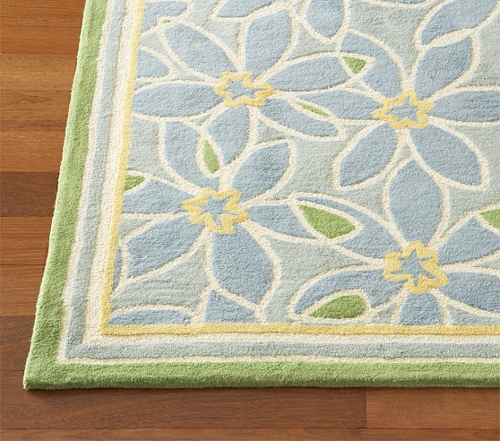 Blue/Green Claire Rug Swatch