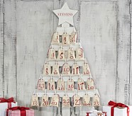 Wooden Tree Advent Calendar, Set of Bags