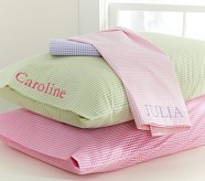 Gingham Standard Pillowcase, Pink